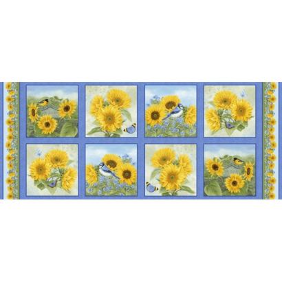 Panelstof met zonnebloemen