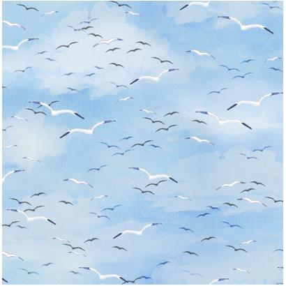 Luchtstof met meeuwen - Coastal Paradidise-Henry Glass