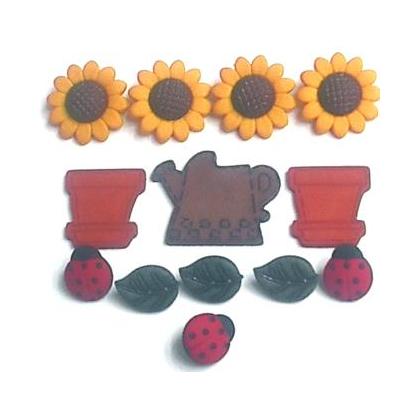 Fantasie Knoopjes Sunflowers 168