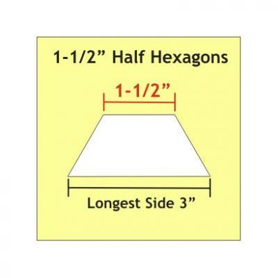 """Half Hexagon 1-1/2"""" HHX150"""