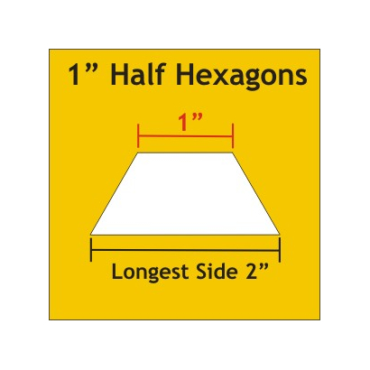 """Half Hexagon 1"""" HHX100"""