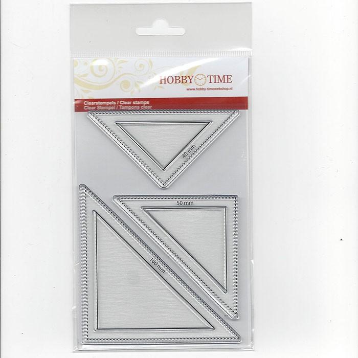 Transparante Quiltstempel CRP0014 Halve vierkanten