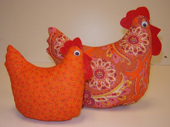 Patroon grote en kleine kip