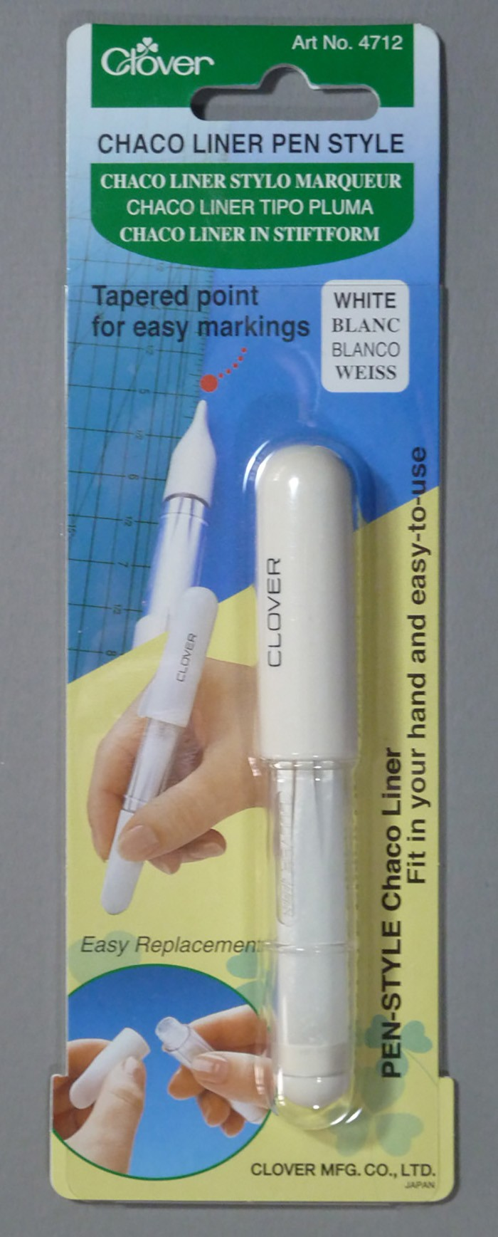 Clover Chaco Liner Pen Style White
