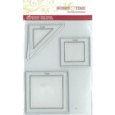 Transparante Quiltstempel CRP0042 Halve en hele vierkanten
