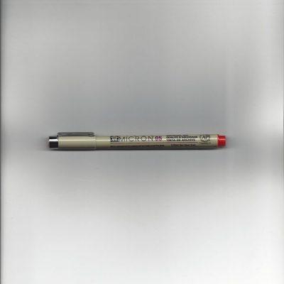 Pigma micron pen rood 05