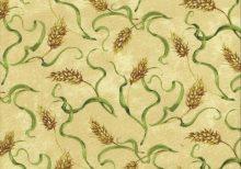 Creme kleur stof met koren aren
