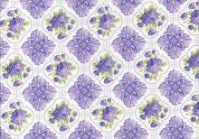 Lichte stof met lavendel ruiten en ruiten met roosjes