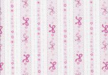 Licht roze streepstof met roze strikjes