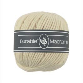 Durable Macramé garen Cream 2172