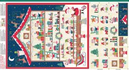 Kerstpanel Santa's Workshop Advent Calendar-Makower