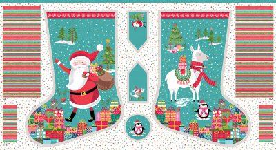 Kerstpanel Let it Snow Stocking-Makower