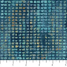 Blokjes stof met o.a. Blauw, bruin en groen-Northcott