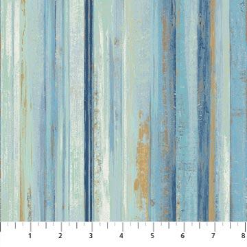 Streepstof met o.a.blauw bruin ecru-Northcott