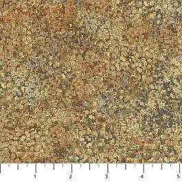 Bewerkte stof met o.a. Brons, beige en ecru-Northcott