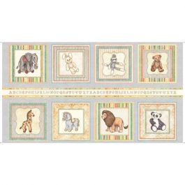 Panel met speelgoed dieren-Quilting Treasures