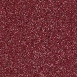 Rode stof met zilveren stipjes