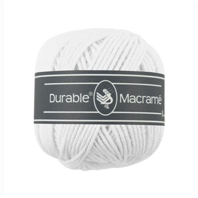 Durable Macramé garen White 310