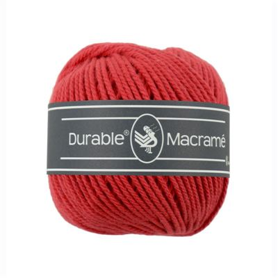 Durable Macramé garen Red 316