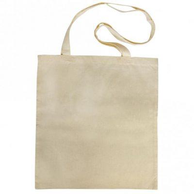 Katoenen tas met lang hengsel 42x38cm