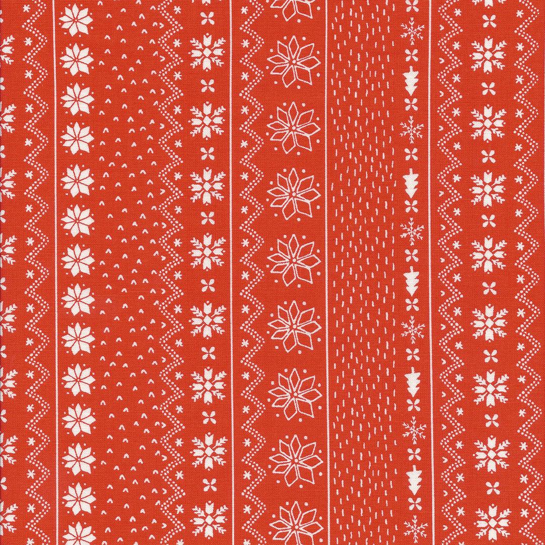 Oranje rode stof met ijskristallen in banen