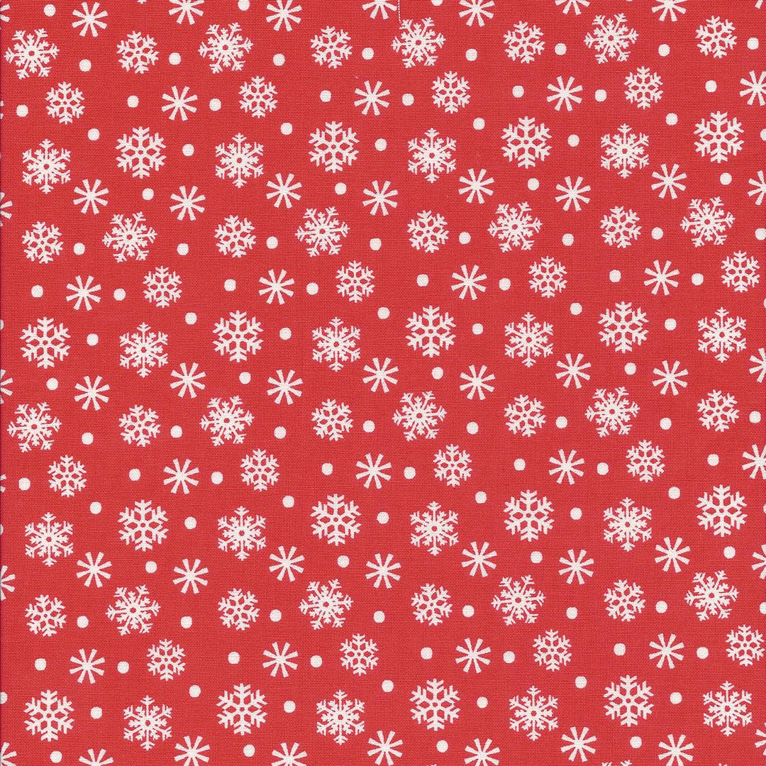 Oranje rode stof met ijskristallen
