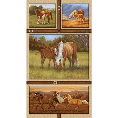 Panel met paarden