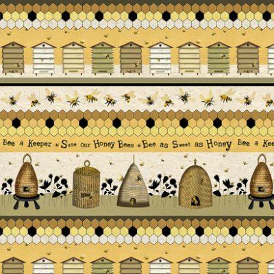 Randstof met bijen en korven-Studio E
