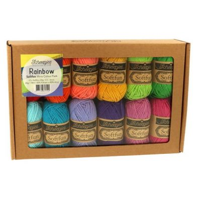 Scheepjes Soft Fun Color Pack 12x20gr. Rainbow