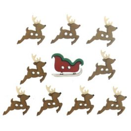 Fantasie knoopjes Sew cute sleigh reindeer 7473-Dress it Up