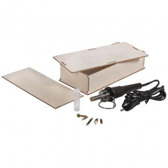 Houtbrander in houten box set