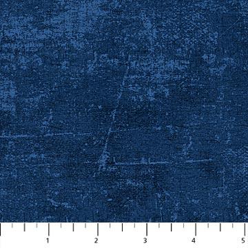 Donker blauwe stof met Canvas-motief-Northcott