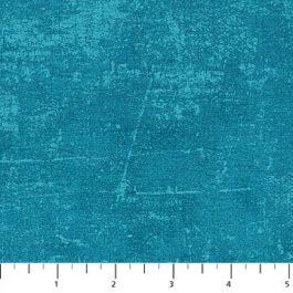 Blauw groene stof met Canvas-motief-Northcott
