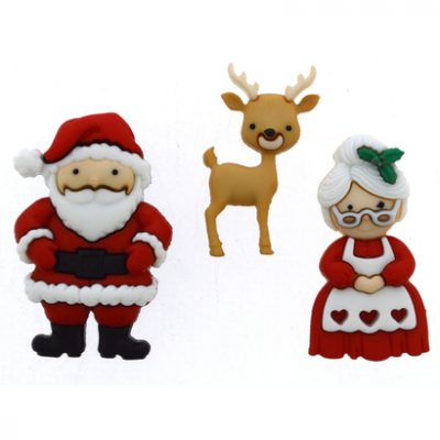 Fantasie knoopjes Mr. and Mrs. Claus 9499-Dress it Up