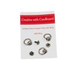 Knopjes met ring Antiek Zilver