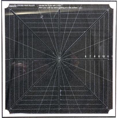 "Westalee Cross Hair Square Ruler Full Markings 8"""
