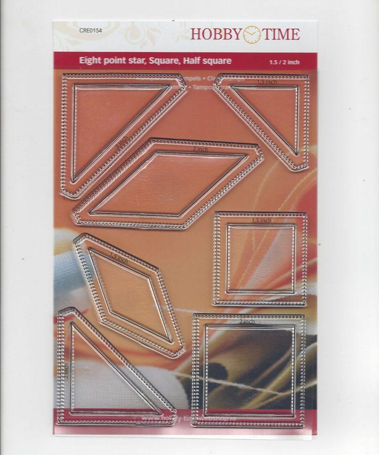 Transparante Quiltstempel CRE0154 Le Moyne Star