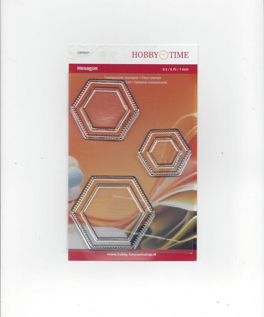 Transparante Quiltstempel CRP0031 Hexagonnen