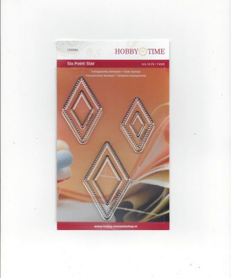 Transparante Quiltstempel CRE0084 Six point star