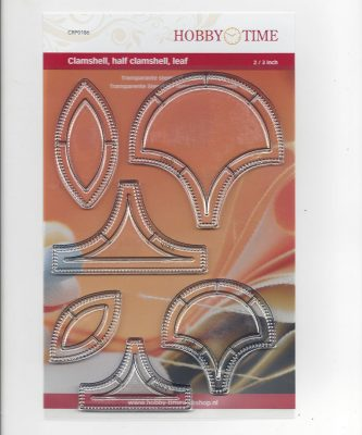 Transparante Quiltstempel CRP0186 Clamshell, half clamshell, leaf