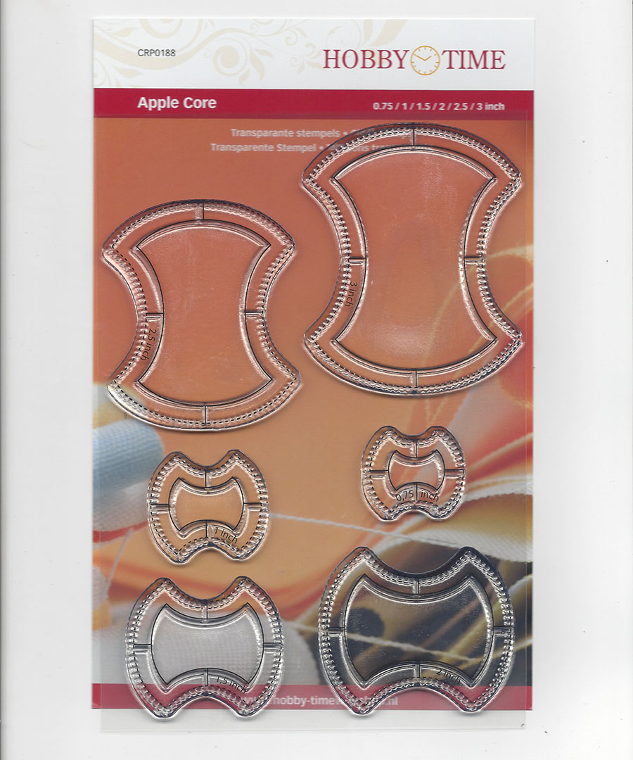 Transparante Quiltstempel CRP0188 Apple Core