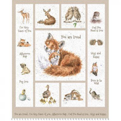 Panel Love Is met dieren afbeeldingen