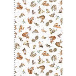 Ecru kleurige stof met dieren-Maywood