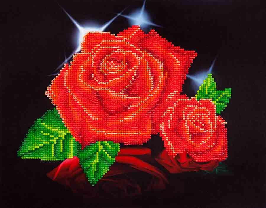 Diamond Dotz Red Rose Sparkle Design Size 35,5 x 27,9cm