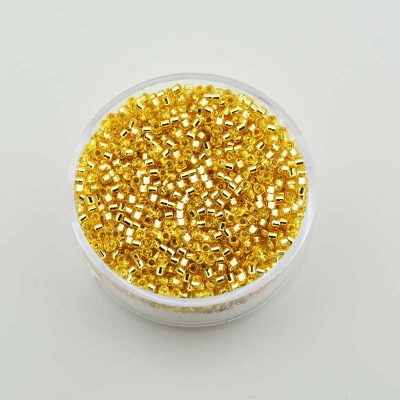 Delica beads 9963-074 Silver Gold