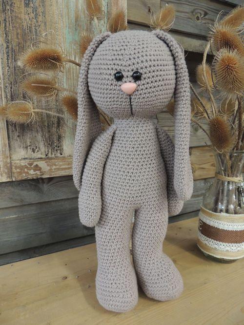 Haakpakket XXL Funny Bunny Basic staand Taupe