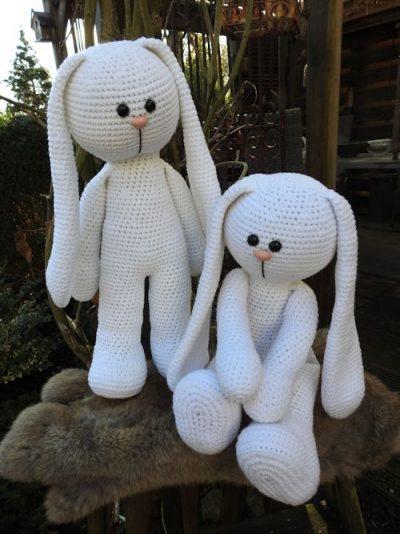 Haakpakket XXL Funny Bunny Wit (staand of zittend)