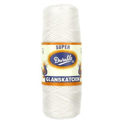 Durable Glanskatoen no.12 Wit