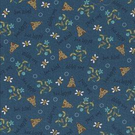 Blauwe stof met bijtjes-Henry Glass