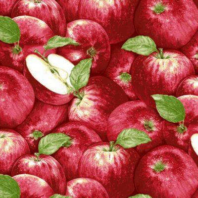 Stof met rode appels
